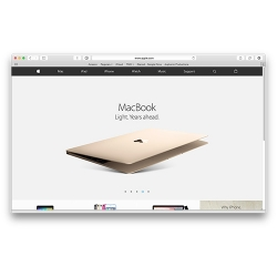 Apple's website without a dedicated online store