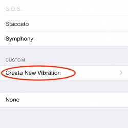 Make your own custom vibration alert  patters on your iPhone