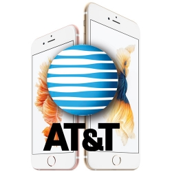 iPhone 6s and iPhone 6s Plus with AT&T Logo