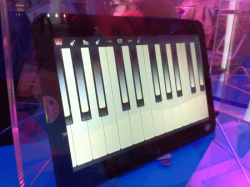 A Tablet Being Shown by Intel