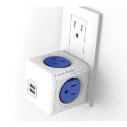 PowerCube Outlet Expander - 4 Outlets and Dual-USB Port: $17.95