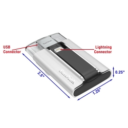 iXpand Flash Drive is barely larger than its USB and Lightning connectors