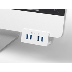 Aluminum 4-Port USB Hub Clamps to iMac or Display: $19.99