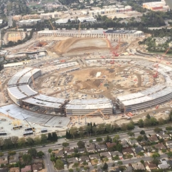 Aerial View of Apple Campus 2