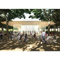 Rendering of Apple Campus 2 Visitor Center
