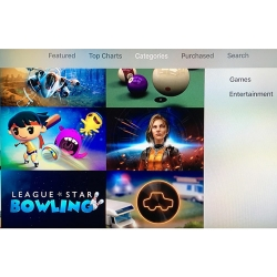 Games and Entertainment Categories on Apple TV