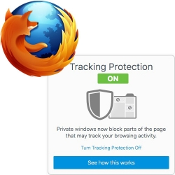 Firefox Private Browsing Mode with Tracking Protection