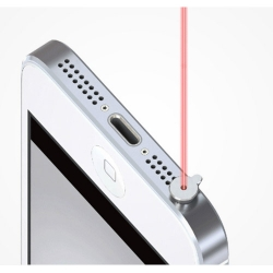 iPin Laser Pointer on an iPhone