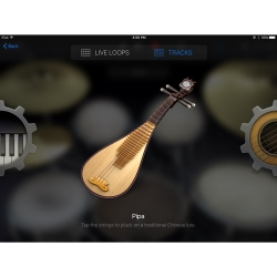 Pipa Chinese Instrument in GarageBand