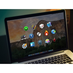Icons from The Big Mac Bundle on a MacBook Screen