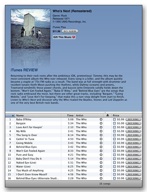 Who's Next at iTunes for $11.99