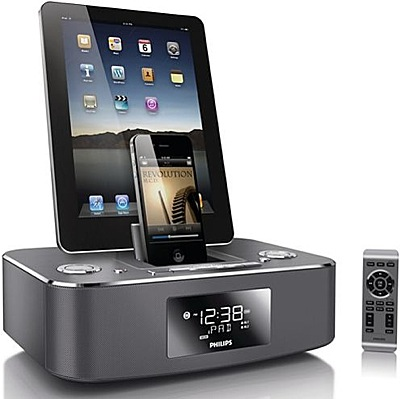 Philips DC390 Dual Dock Clock Radio With Remote