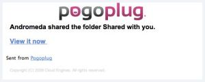 Pogoplug -E-mail notice