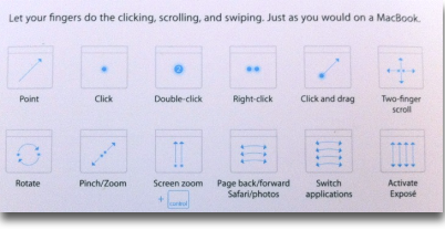 Magic Trackpad gestures