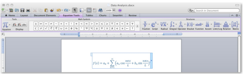Word 11 equation editor