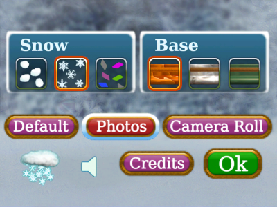 Awesome Snow Globe settings