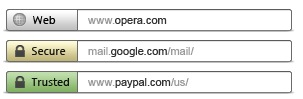 Opera Address bar