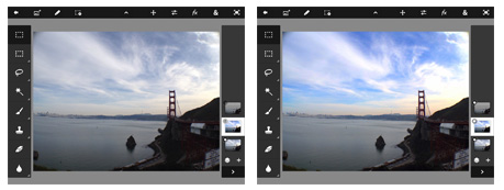 Photoshop Touch: before and after images