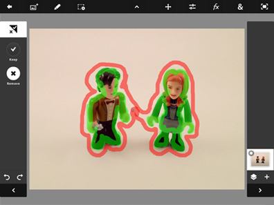 The Scribble Select tool makes it fairly easy to cut out parts of images