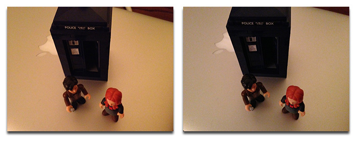 Colors in low light images looked more natural from the iPhone 5 (right) than iPhone 4S (left)