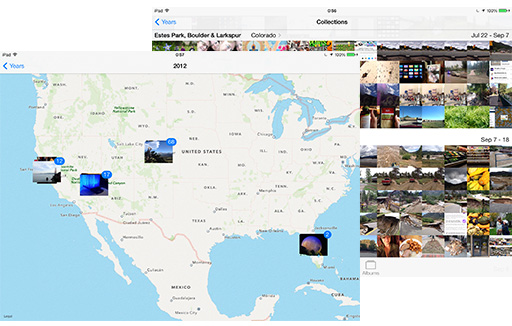 Photos has new a new locations view and thumbnail sorting