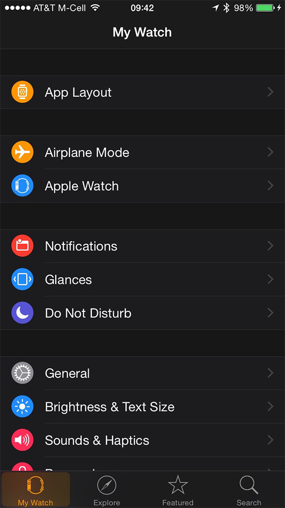 Most Apple Watch settings require a visit to your iPhone