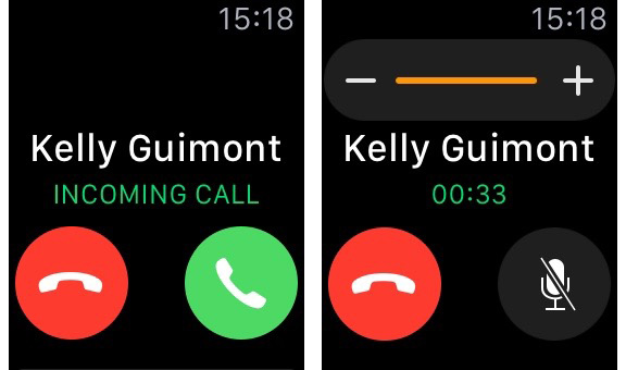 You can answer calls on your Apple Watch, but they don't sound great