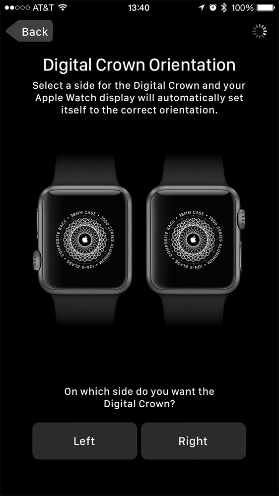 You can set up your Apple Watch left or right-handed. This makes me happy.