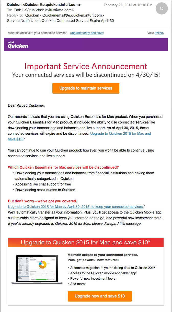 2015 Quicken For Mac