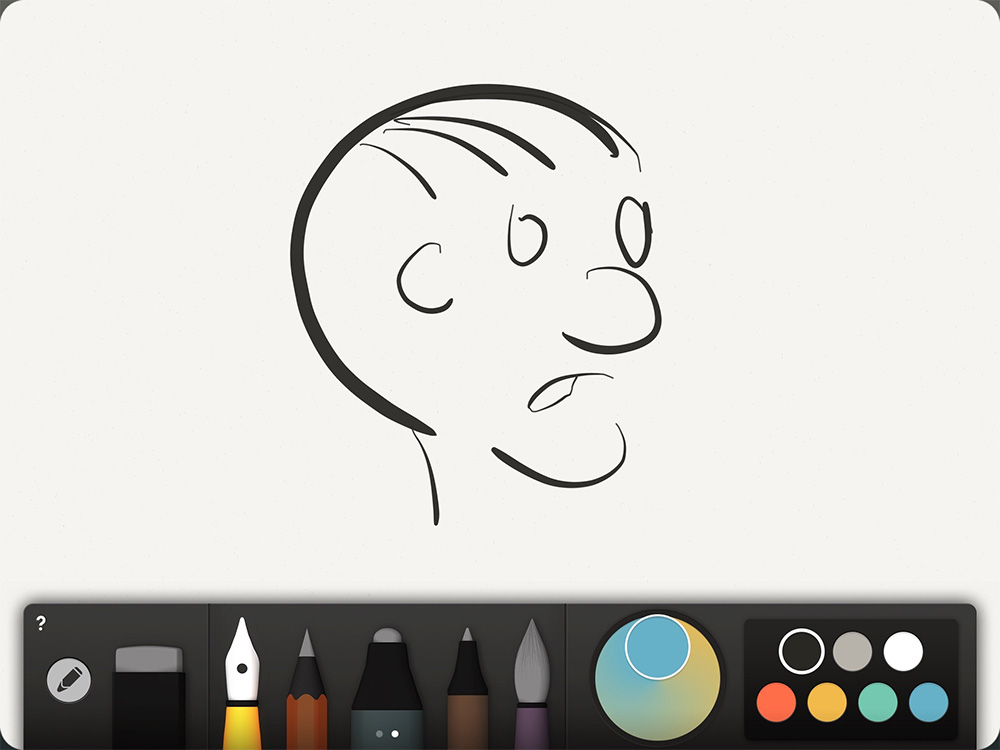 The Jot Dash works great in drawing apps like Paper by 53...
