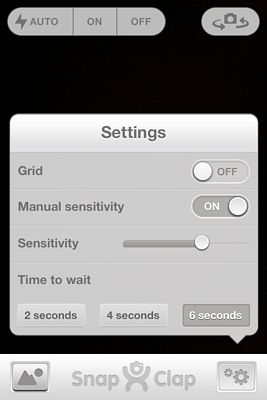 Snap Clap For iOS - Settings