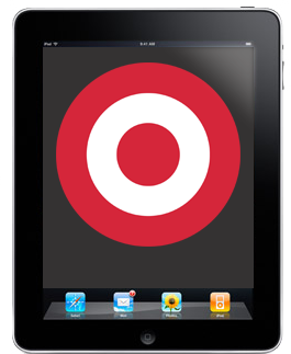 Target carries the iPad 2