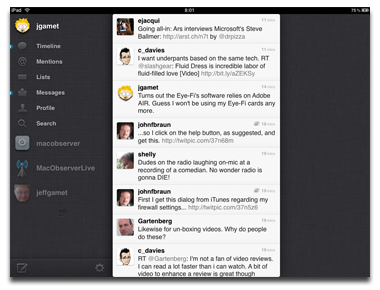 Twitter for the iPad