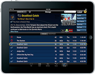 TiVo remote app for the iPad and iPhone