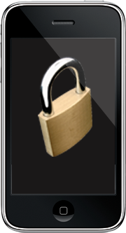 iPhone with a lock onscreen