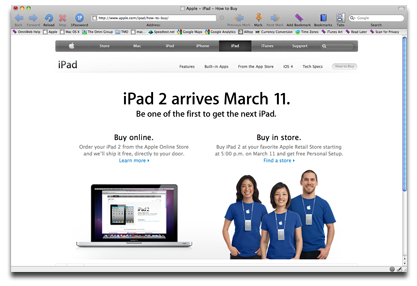 How to Buy iPad Web site