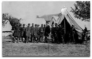 It's a tent! And Abe Lincoln!