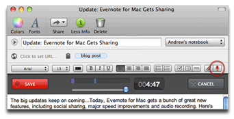 Evernote for Mac OS X