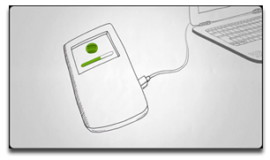 Spotify iPod syncing. In a cartoon!