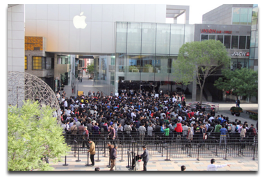 iPad 2 lines in China