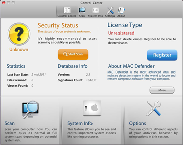 MacDefender trojan horse application