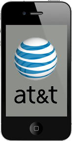 AT&T logo displayed on iPhone