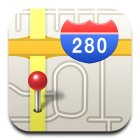 Apple's Maps icon, now with 280 safety!