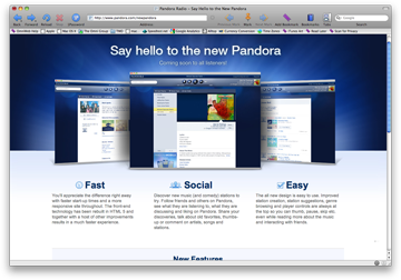 Pandora Ditches Flash for HTML 5