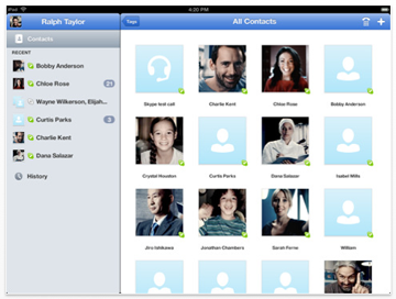 Skype for the iPad