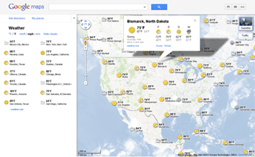 Google Maps with weather