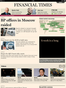 Financial Times on the iPad