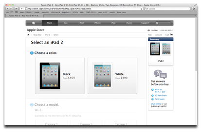 iPad 2 online order system revamp