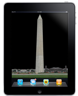iPads in Washington Monument repairs