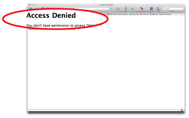 Apple.com: No access for you!